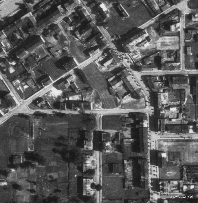 Centrum Wołomina w 1947 roku