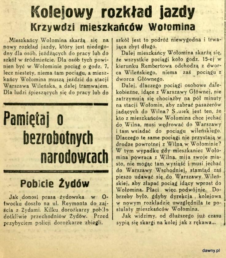 Warszawski Dziennik Narodowy. R. 1, 1935, nr 40B