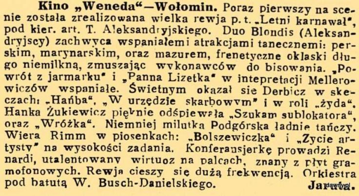 Trubadur Warszawy : kabaret artystyczny : humor, piosenki, satyra, monologi, deklamacje, kuplety, jednoaktówki : w kazdy czwartek nowy numer z nowym programem, R. 23, nr 27 (4 lipca 1931)