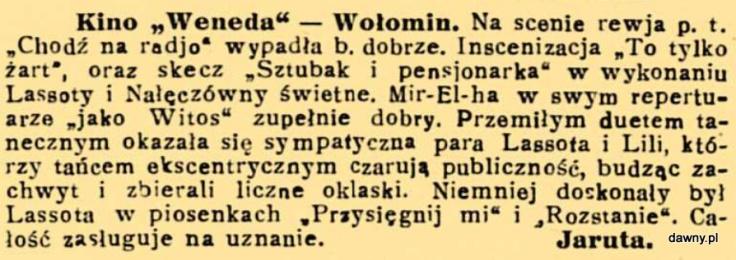 Trubadur Warszawy : kabaret artystyczny : humor, piosenki, satyra, monologi, deklamacje, kuplety, jednoaktówki : w kazdy czwartek nowy numer z nowym programem, R. 23, nr 23 (6 czerwca 1931)