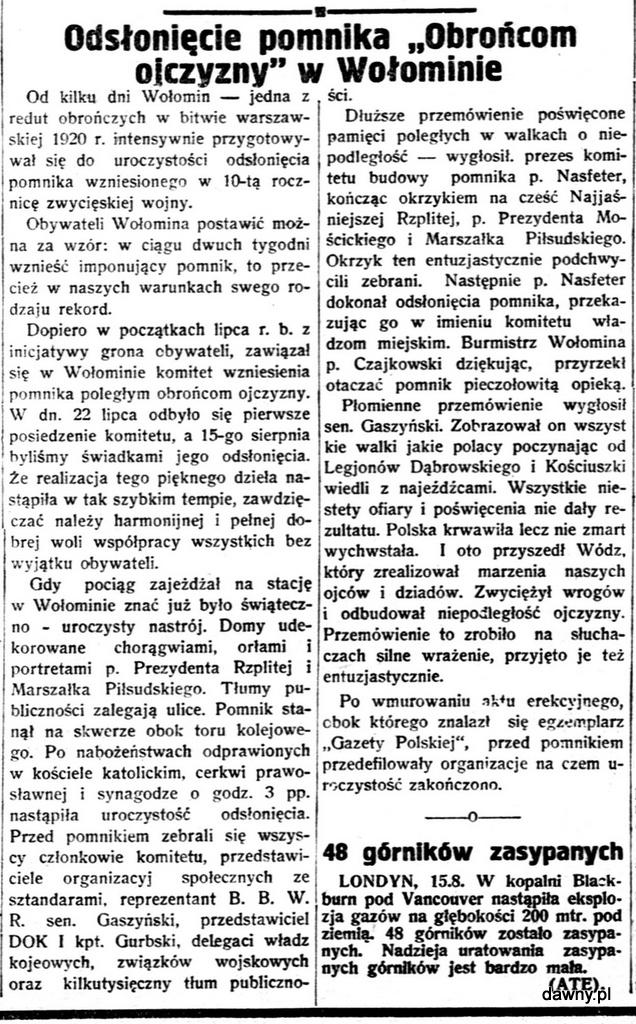 Gazeta Polska : pismo codzienne, R.2, nr 224 (16 sierpnia 1930)