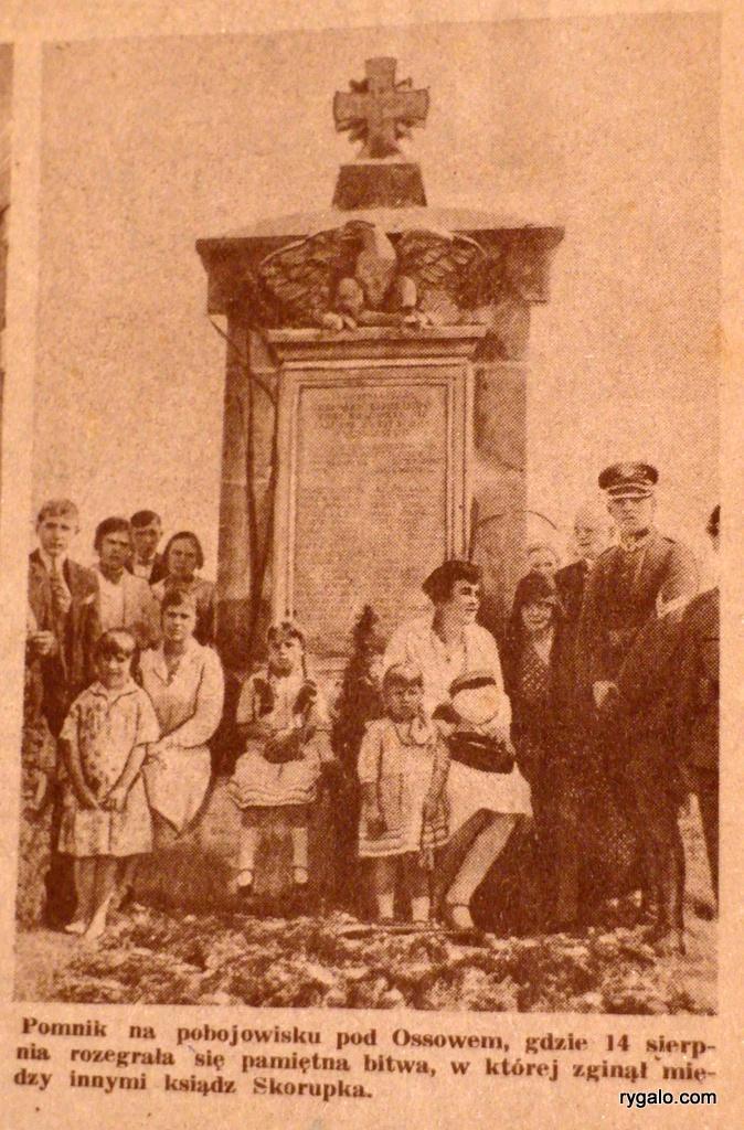 Pomnik w Ossowie - 1930