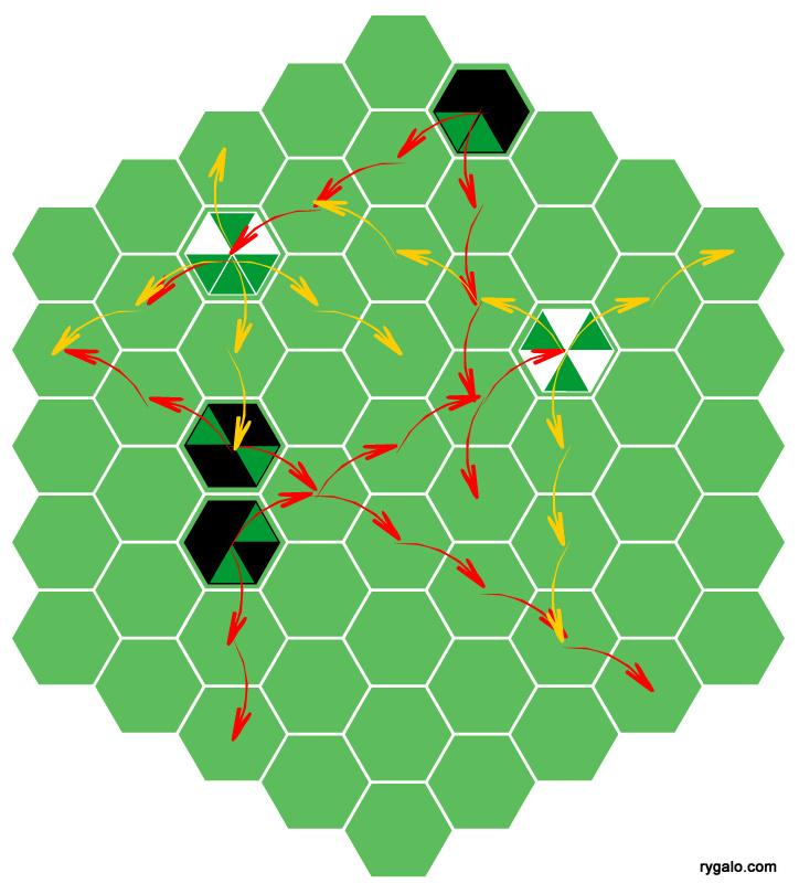 Poligon - przykładowe ruchy pionów