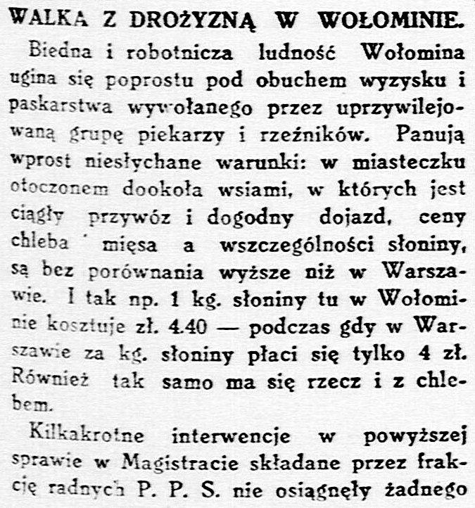 Robotnik : organ Polskiej Partyi Socyalistycznej. 19 września 1927