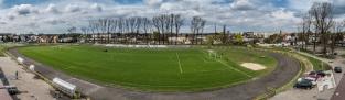 Huragan - widok boiska i bieżni