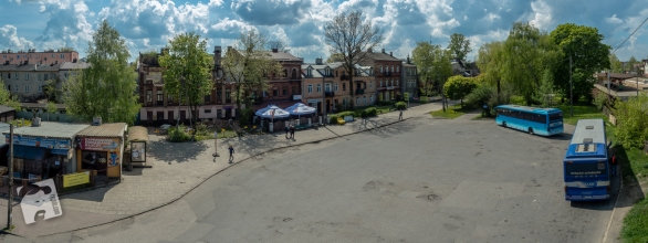 Wołomin, okolice stacji kolejowej, maj 2016