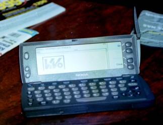 Serwis można było zobaczyć również w telefonie. Jeśli się miało wypasiony telefon...