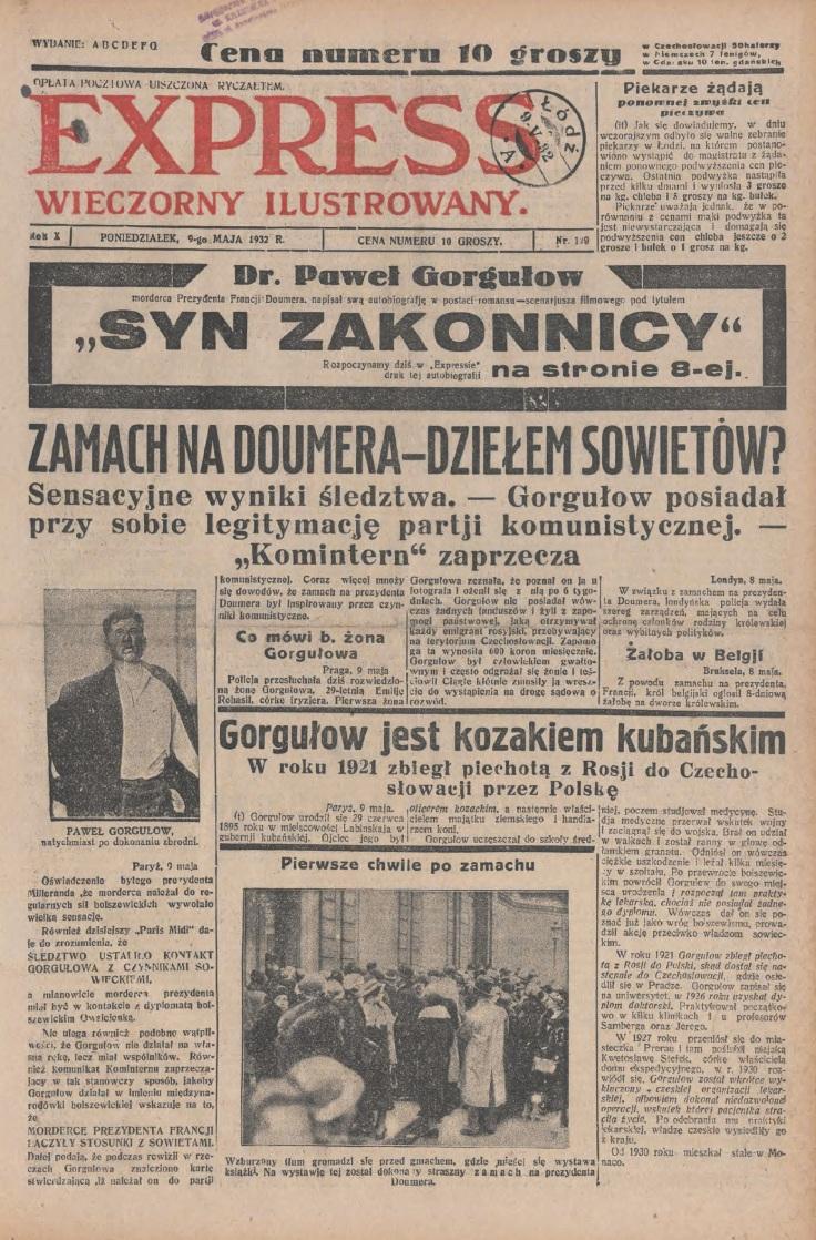 Express Wieczorny Ilustrowany, 9 maja 1932