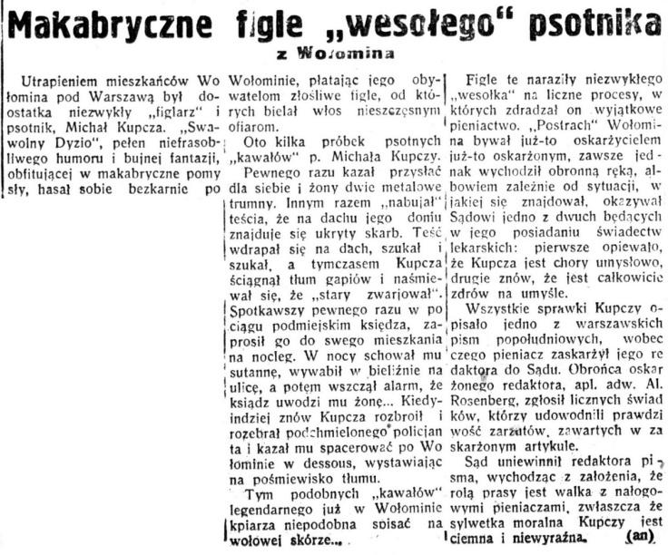 5-ta Rano - bezpartyjny dziennik żydowski R.5, nr 5 (5 stycznia 1935)-001