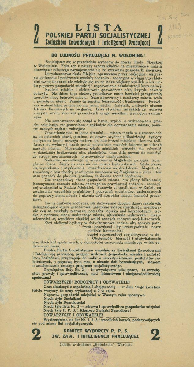 Wybory w 1929