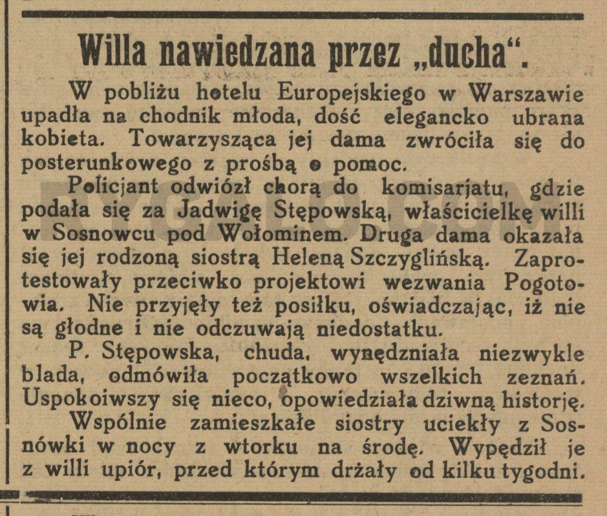 Nawiedzona Sosnówka